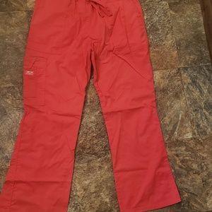 Cherokee Pants - Med red cherokee scrub pants